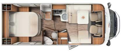 teilintegrierte t449 reisemobil auf fiat basis f r 5. Black Bedroom Furniture Sets. Home Design Ideas